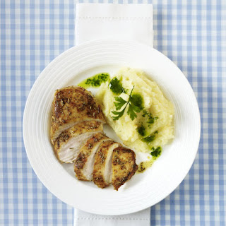 Chicken with Celeriac Mash and Parsley Oil