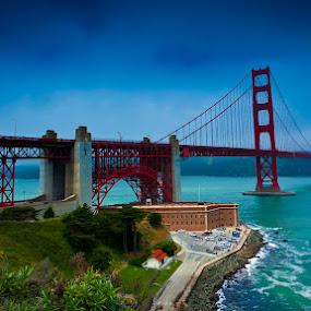 Golden Gate Bridge early summer by Chester Chen - Buildings & Architecture Bridges & Suspended Structures ( san, francisco, bridge, usa, golden, gate )