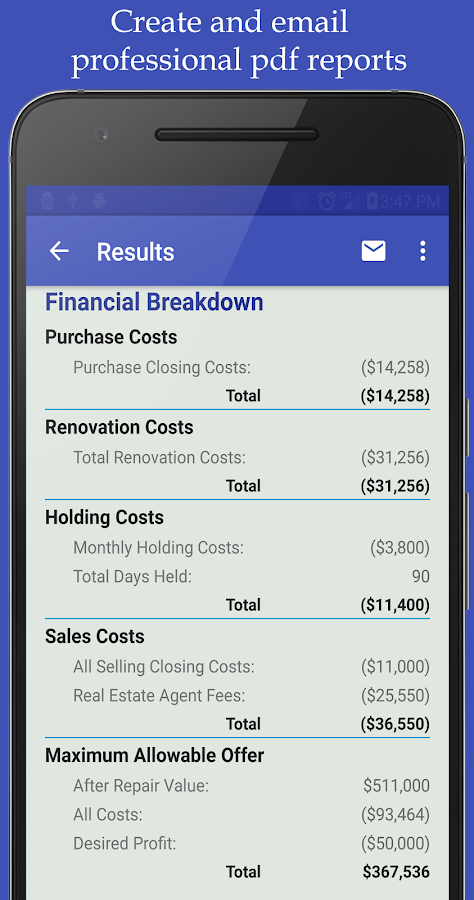 Real Estate Analyzer- screenshot