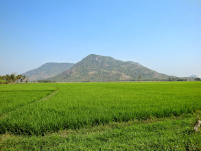 Photo: hills in the Mekong delta near border with Camobdia