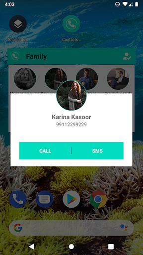 Contacts Widget - Quick Dial Widget - Speed Dial ss3