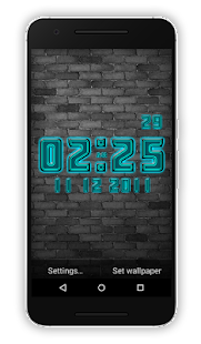Style Clock Live Wallpaper - náhled