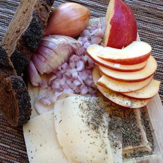Open-Faced Apple Shallot Sandwich