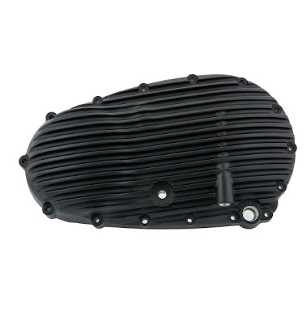Ribbed Clutch Side Engine Cover - Black