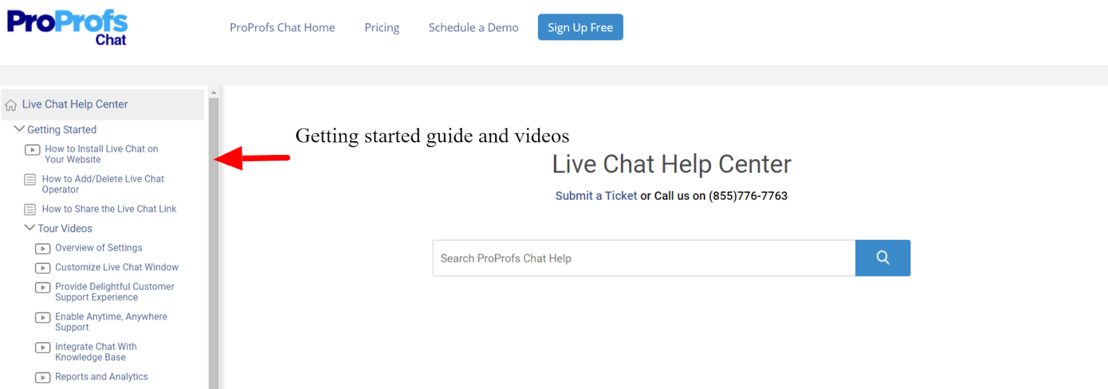 ProProfs Live Chat Help Centre