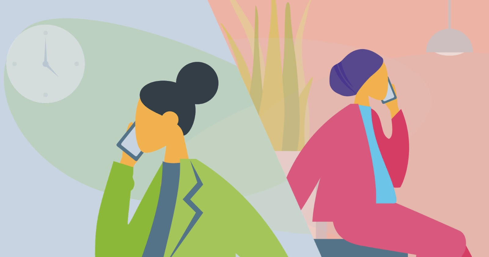 Illustration of client and LABC support person talking over the phone