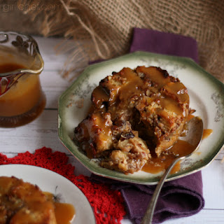 Orange-scented Bread Pudding with Hard Sauce for Two