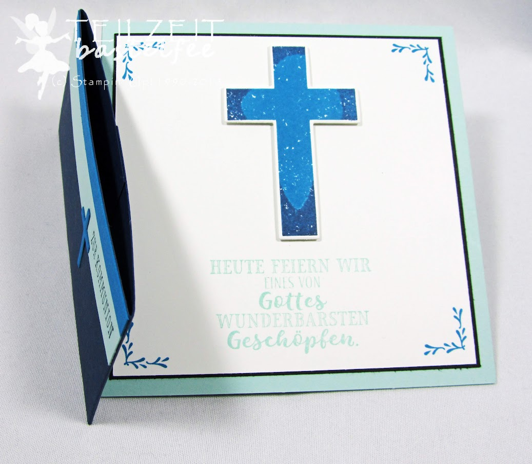 Stampin' Up! - Inkspire_me, Sketch Challenge, Color Challenge, Kommunion, Hoffe und Glaube, Framelits Kreuz der Hoffnung, Cross of Hope, Hold on to Hope