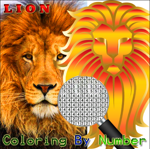 Lion Pixel Art-Animal Coloring By Number 7.0 screenshots 2