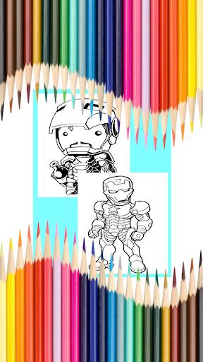 Game Coloring Book Man Kids