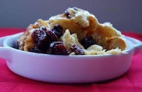 Mom's Cherry Nut Bread Pudding Recipe