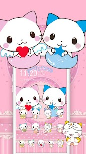 Cute Cartoon Cat Love Theme 1.1.7 Mod Android Updated 2