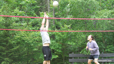 Photo: Playing volleyball at Little River State Park by Jason Croteau