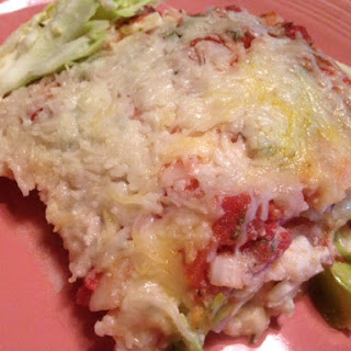 RICOTTA CABBAGE CASSEROLE * tastes like LASAGNA * vegetarian ~ gluten-free * HERBS * CHEESE * TOMATOES * low calorie & low carb *.