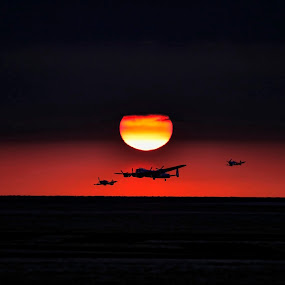 Battle of Britain Memorial Flight by Tony Munro - Digital Art Things ( #sunset, #merlin, #rollsroyce, #lancaster, #hurricane, #spitfire, #airshow, #battleofbritainmemorialflight, #ww2 )