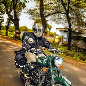 Ridders On The Road by Kartik Wat - Sports & Fitness Motorsports ( professional bikking, vintage, zero mile ridders, chopper, muscular, ridders, bikkers, 500cc, sexy, bike, chopper bike, royal enfield, bullet )