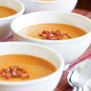 Butternut Squash Soup with Apple & Bacon.