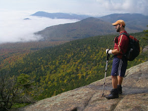 Photo: On the first open ledge of Mount Whiteface.