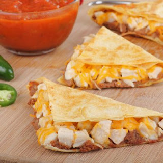 Chicken and Bacon Quesadillas with Sauce