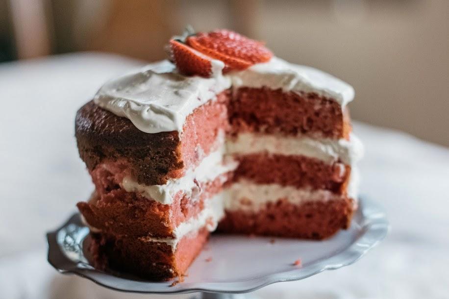 Naked Cakes: Strawberry Orange Layer Cake