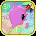 Aquarium coloring icon