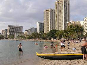 Photo: C1240012 O'ahu - Honolulu - zachod slonca na plazy