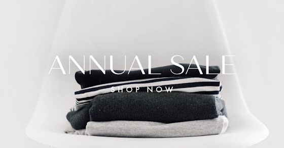 Annual Sale Shop Now - Facebook Event Cover Template