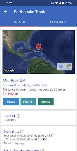 Earthquake Track screenshot 3