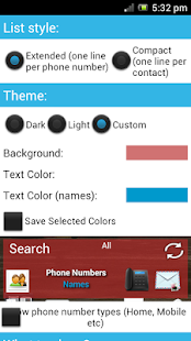 Contacts in a list widget-Paid- screenshot thumbnail