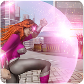 Wonder Warrior Women- Flying Superhero City Battle