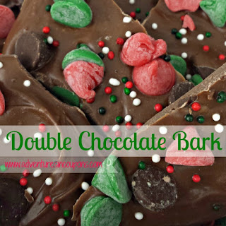 Double Chocolate Candy Bark Recipe With Printable Gift Tag!