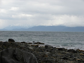 Photo: Lynn Canal looking west from Point Sherman with the Chilkat Mountains in the distance.