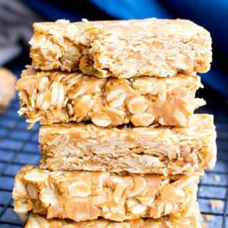 3 Ingredient No Bake Gluten Free Peanut Butter Granola Bars (Vegan, 3 Ingredient, GF, Dairy-Free).