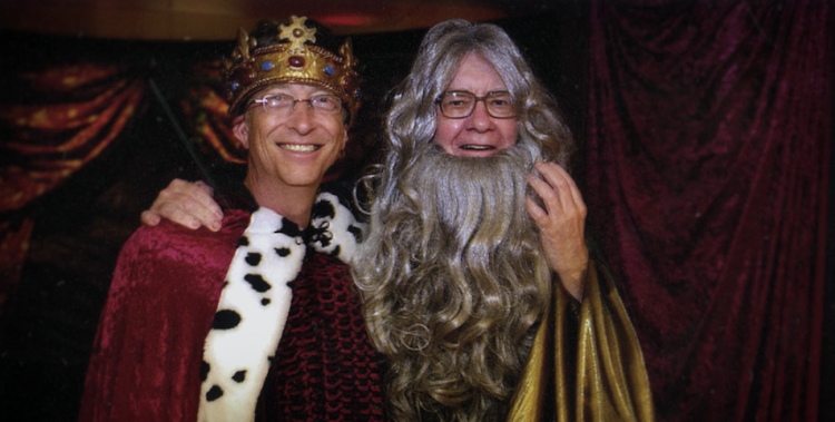 Bill Gates and Warren Buffett. Picture: SUPPLIED/SHOWMAX