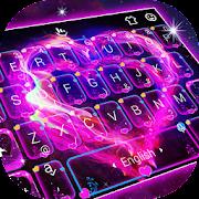 Neon Galaxy Heart Keyboard Theme