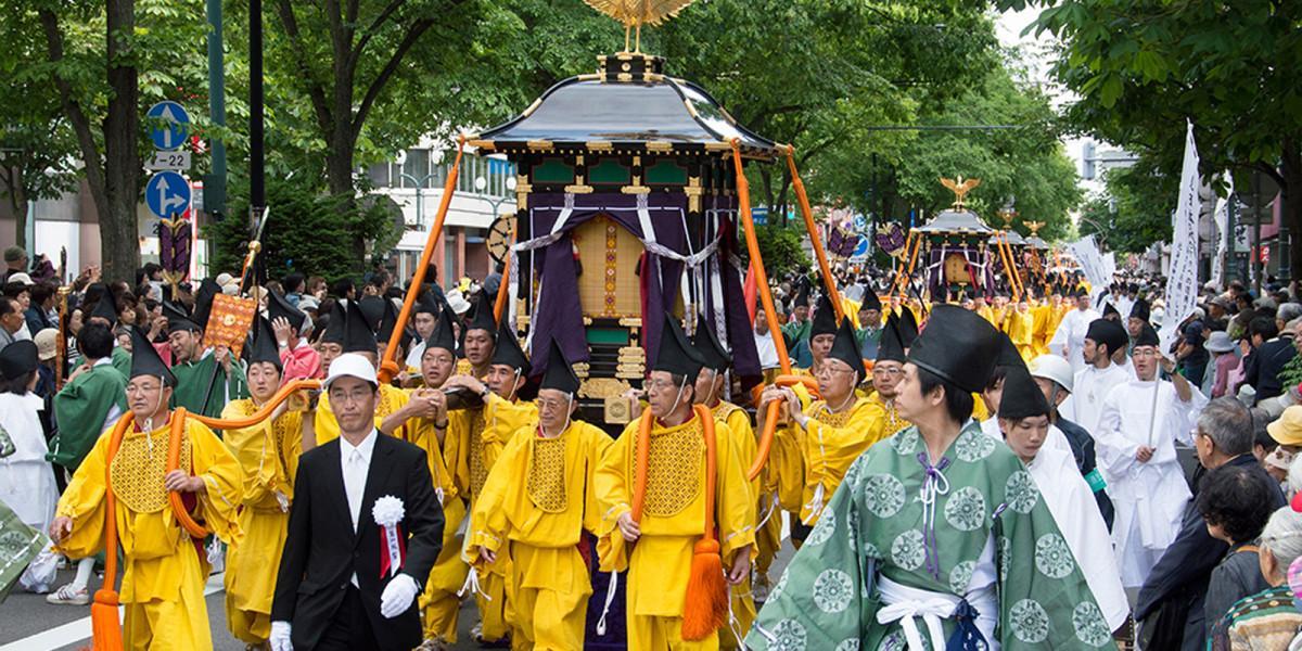 Lễ hội đền Hokkaido tại Nhật