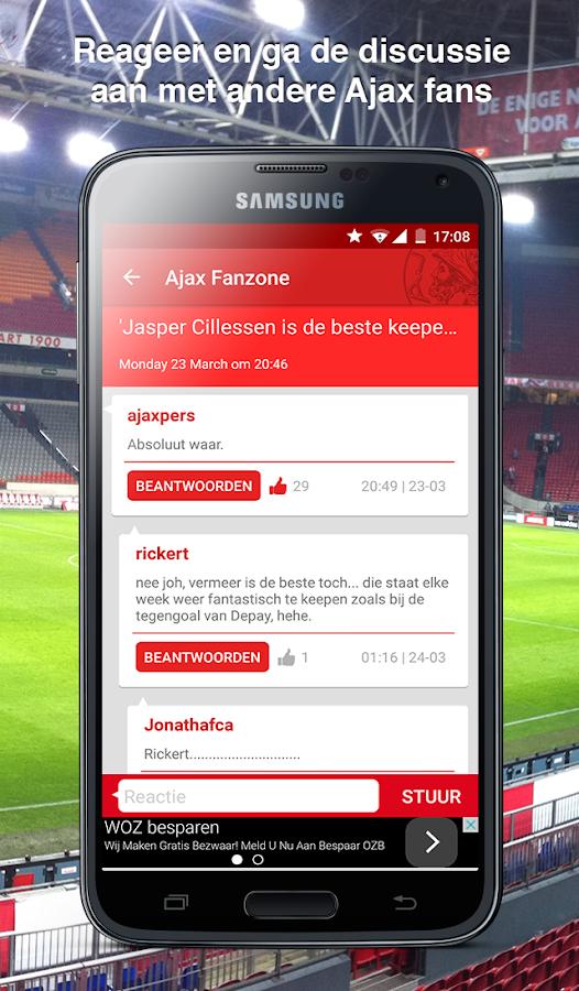 Ajax Fanzone - screenshot