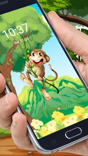 प्यारा कार्टून बंदर थीम screenshot