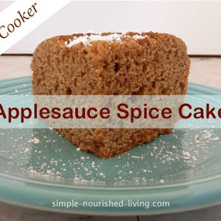 Easy Slow Cooker Applesauce Spice Cake