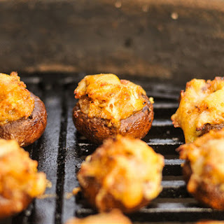 Grilled Crab and Fontina Stuffed Mushrooms.