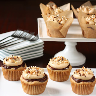 Peanut Butter Cupcakes With Chocolate Ganache And Peanut Butter Buttercream