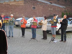 Photo: Der Posaunenchor Hambach-Winzingen spielt auf im LB
