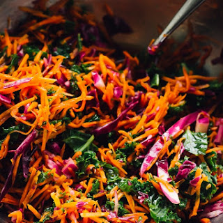 The Best Kale Cabbage Slaw.