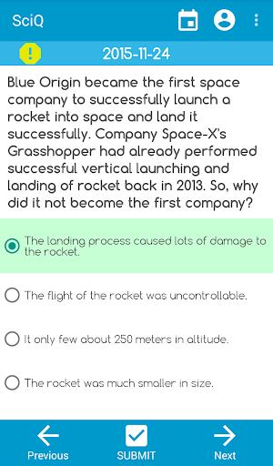 Daily Science Quiz
