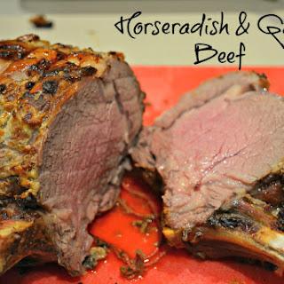 Horseradish Beef with Roasted Beetroot