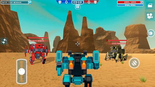 Blocky Cars Online Mod Apk 7.7.1 (Unlimited Ammo + God Mode) 7