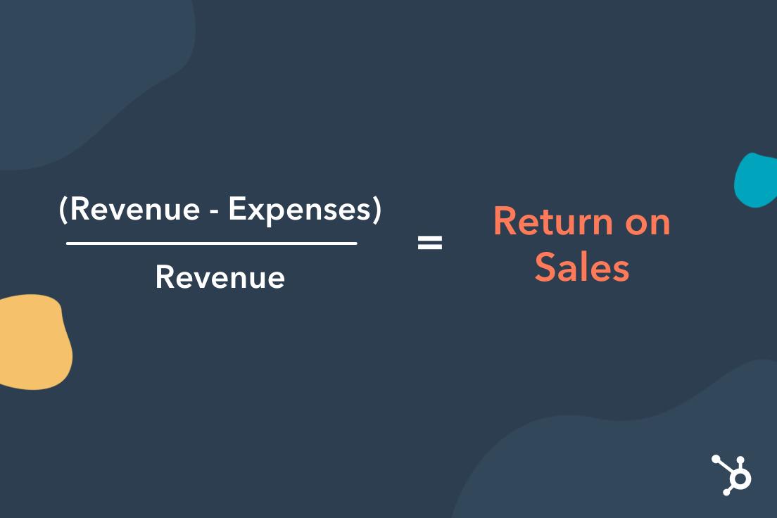return on sales formula