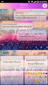 COLOR RAIN Emoji Keyboard Skin screenshot 1