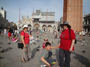 Photo: Gregory re-creates his first steps in Piazza San Marco!