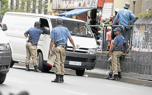 Johannesburg Metro Police. Picture: SUNDAY WORLD